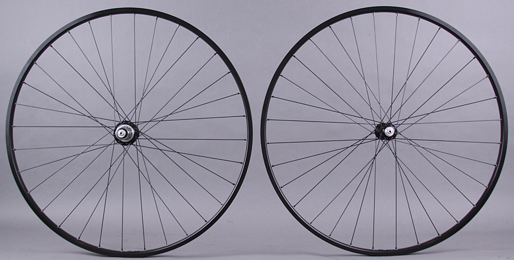H + plus Son TB14 Black White Industries T11 hubs Wheelset