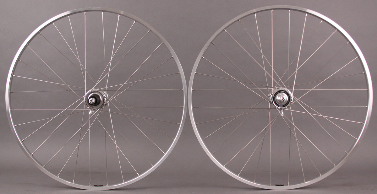 H + plus Son TB14 Silver - Suzue High Flange Hubs Road Wheelset