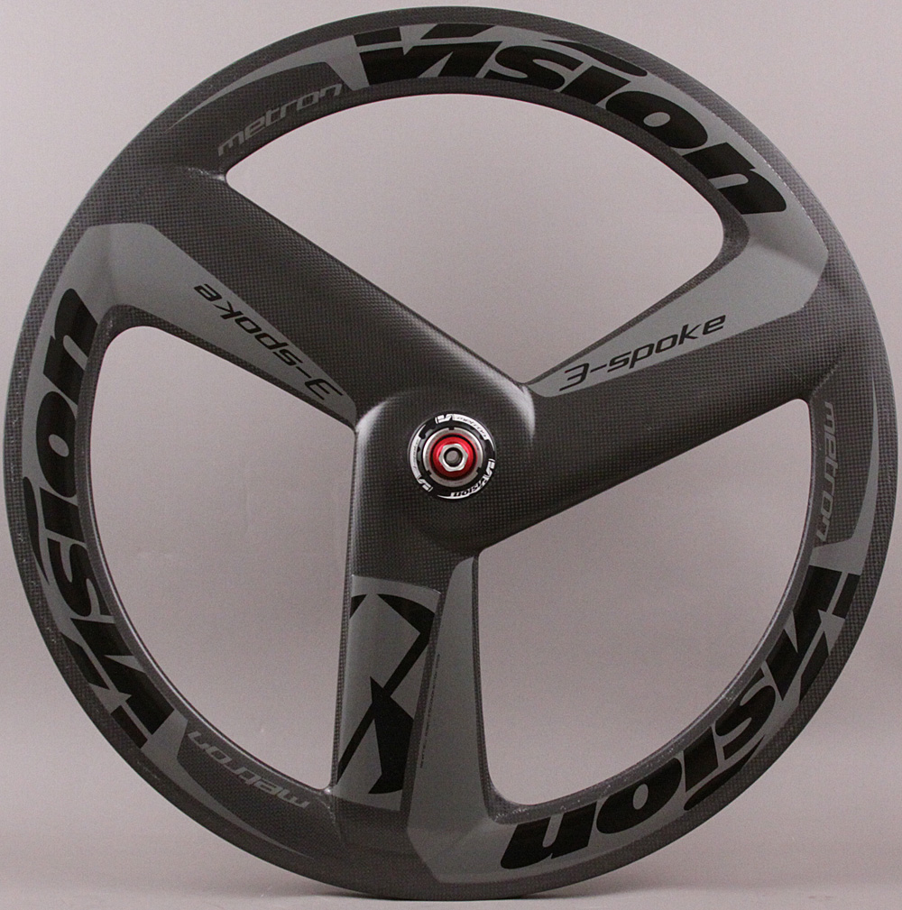 FSA Vision Metron 3 Spoke Carbon Tubular Track Single Rear Wheel