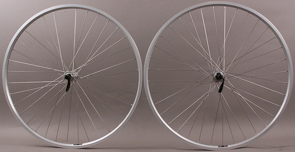 Silver Heavy Duty Velocity NoBS 700c Hybrid Wheels Road Spacing