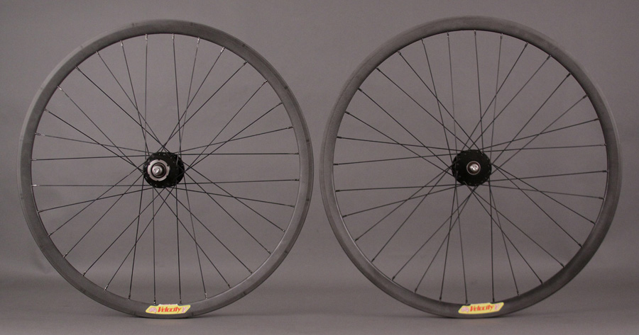 Velocity Deep V Halo COSMETIC BLEM Phil Wood Hubs Fixed Wheelset
