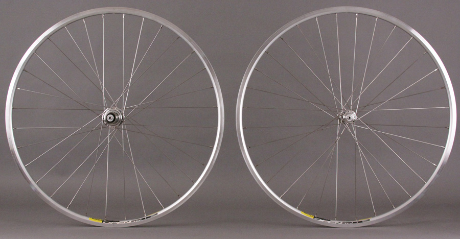White Industries Silver T11 Hubs Mavic Open Pro Wheels CAMPY
