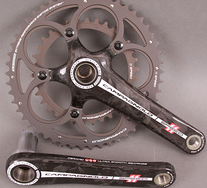 Campagnolo Record 11 speed crankset 165mm 39/53