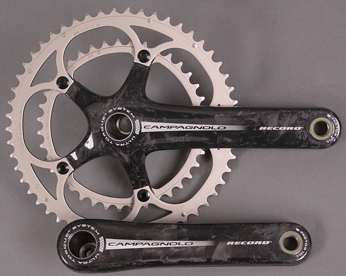 2007 Campagnolo Record 10 speed crankset 180 53/39