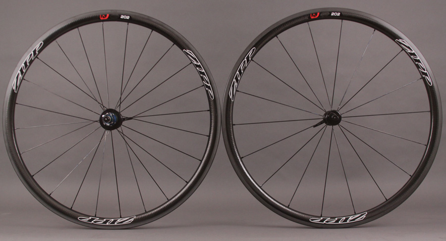 2013 Zipp 202 Black Tubular Wheelset - 1115 g - 11 Speed Shimano