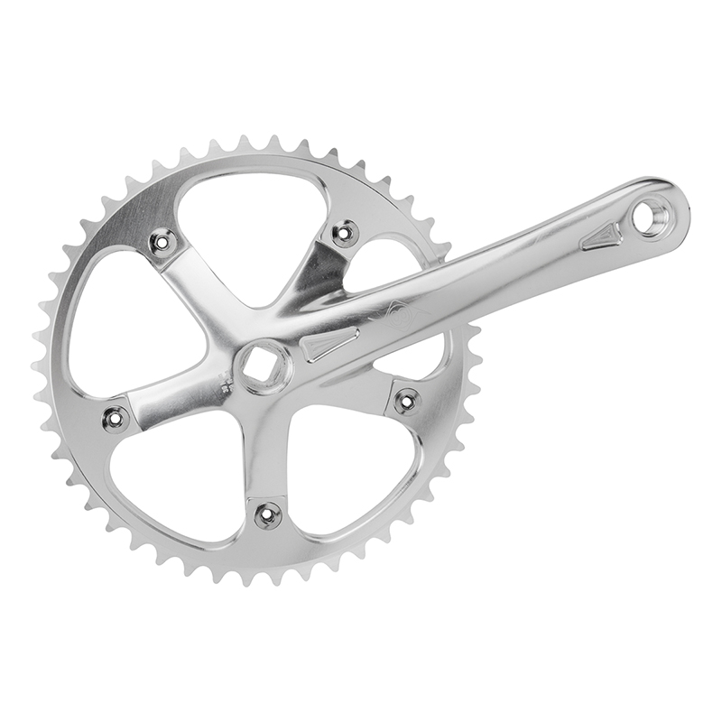 Origin8 Single Speed Track Bike Crankset 175mm 46 Tooth Silver