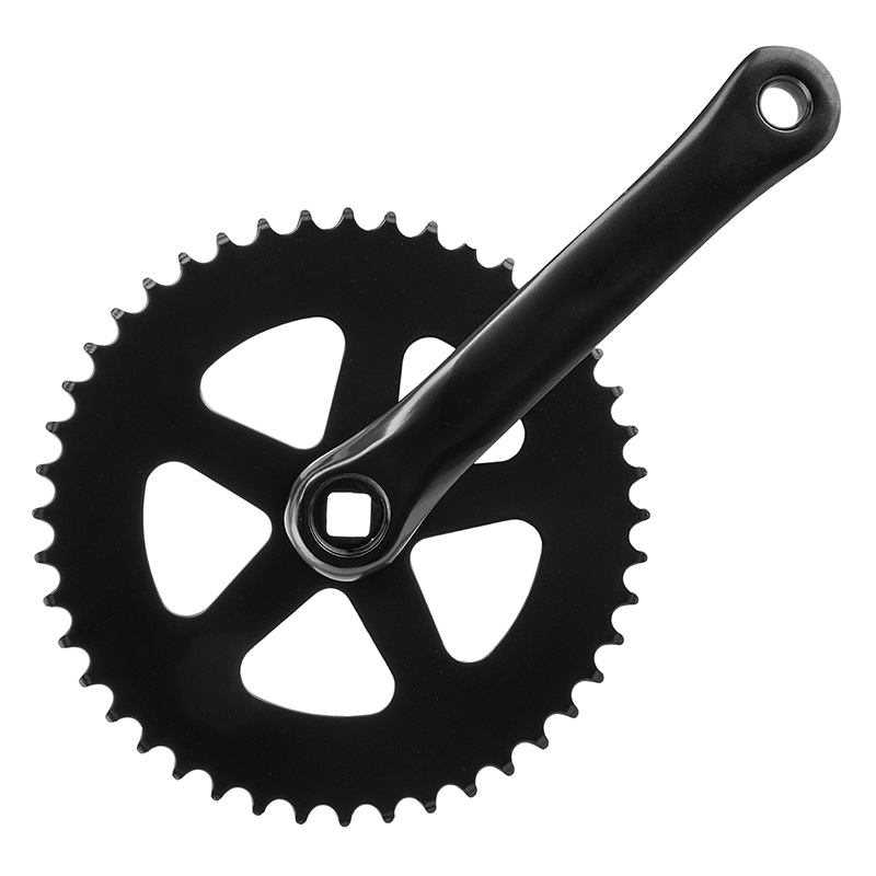 Sunlite Big City Single Speed Track Bike Crankset 170x48 Black