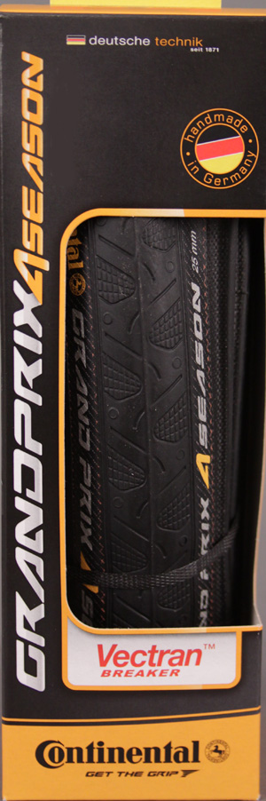Continental Grand Prix 4 Season 700 x 25 Clincher Tire Black
