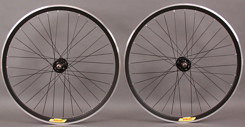 Velocity Deep V BLACK Fixed Gear Wheels Machined 32 Hole