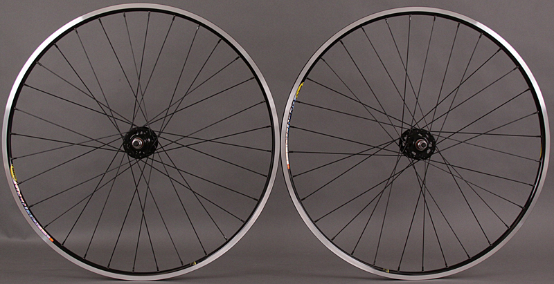 Mavic Open Pro Black Formula Track Hubs DT Competition Wheelset