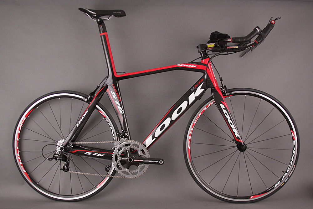 LOOK 576 Carbon Time Trial TT Bike E-Post SRAM Rival Large Red