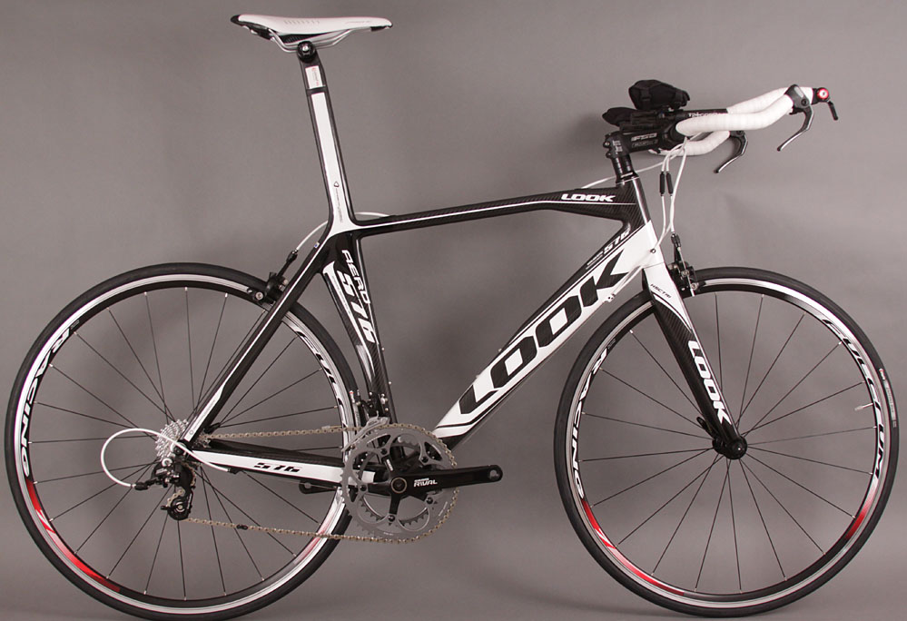 2011 LOOK 576 Carbon Fiber Time Trial Bike SRAM Rival Large BK
