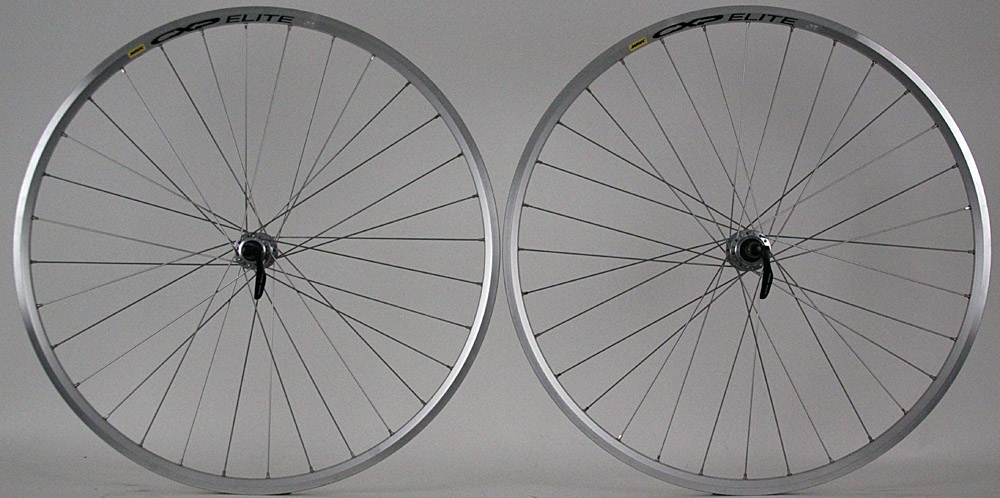 Mavic CXP Elite Shimano 105 7000 Hubs Silver Road Bike Wheelset