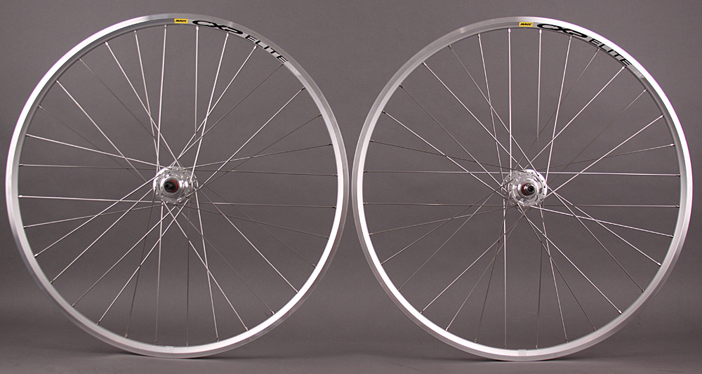 Mavic CXP Elite Silver 700c fixed gear SingleSpeed wheelset 32h