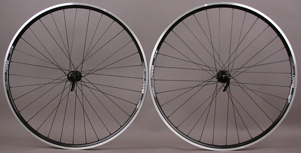 DT Swiss R460 rims DT Swiss 370 Hubs Road Bike Black Wheels 8-11