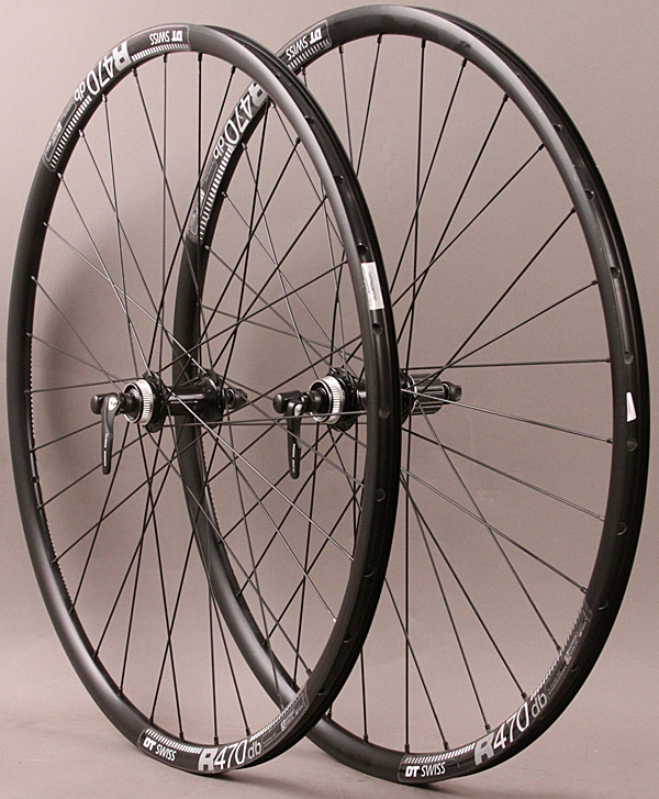 DT R 470 Road Disc 11sp Gravel QR Wheels Shimano Hubs CL Disc