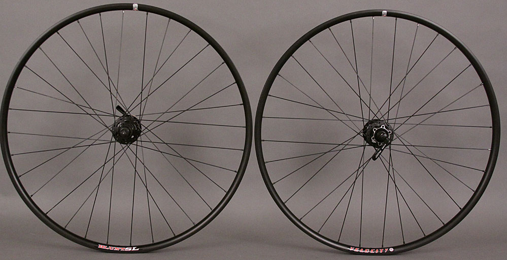 New Velocity Blunt SL Shimano 29er Black XT 6 Bolt Disc Wheelset
