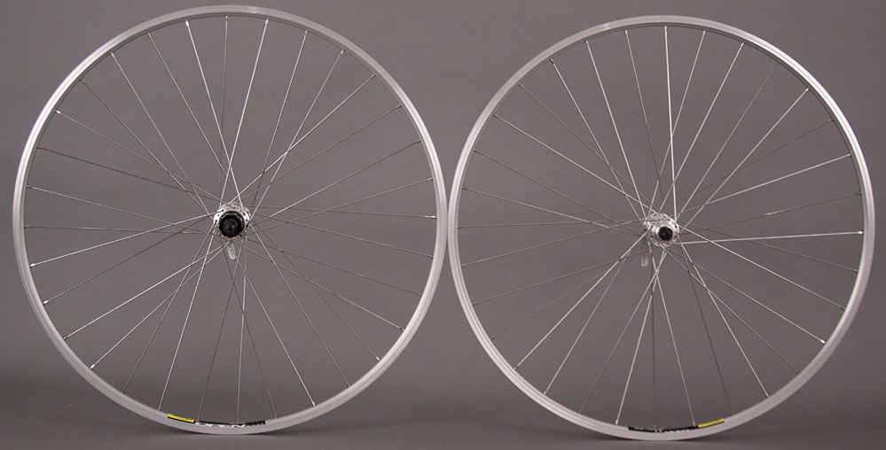 Mavic Open Sport Rims Shimano 2200 Silver Hubs Road Bike Wheels