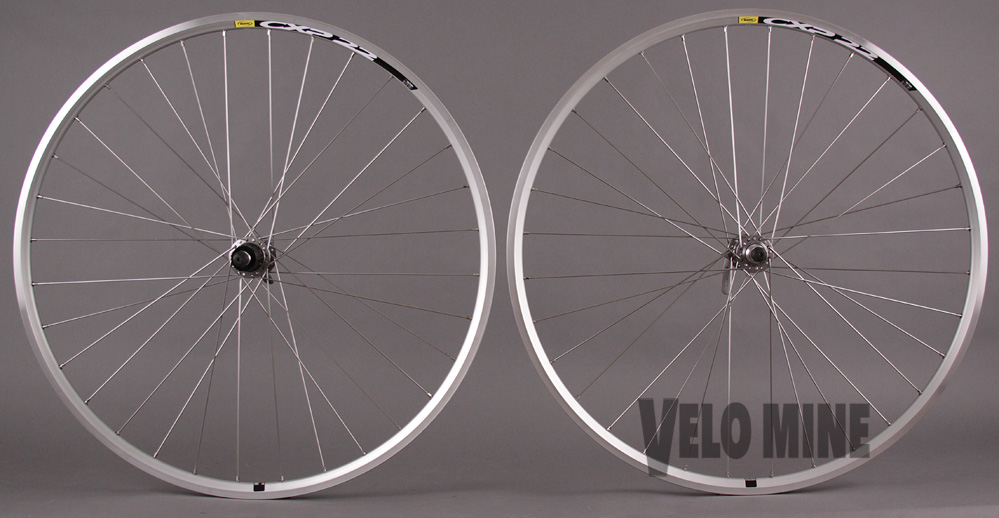 Mavic CXP22 Shimano 105 Hubs All Silver Road Bike Wheels 32h