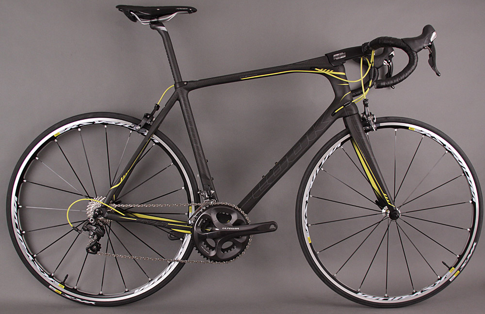 2013 Look 675 Black Mat Road Bike Ultegra Mavic Ksyrium Elite