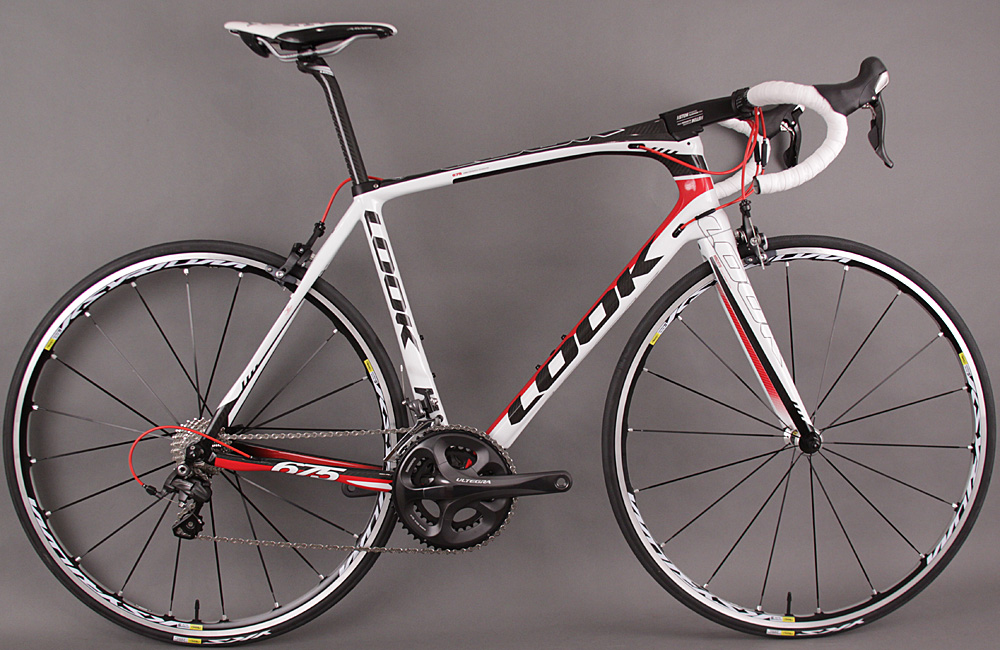 2013 Look 675 INTAGRATED Headfit Ultegra Mavic Ksyrium Elite
