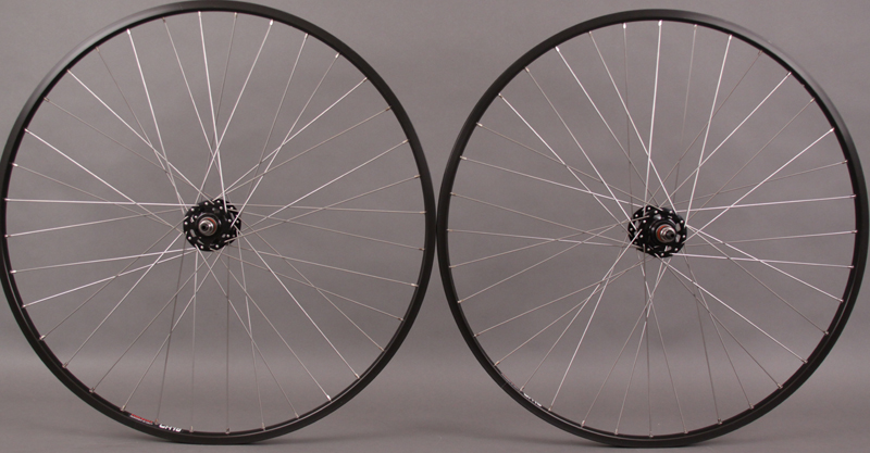Sun CR18 Black 36h Fixed Gear Singlespeed Wheelset Black