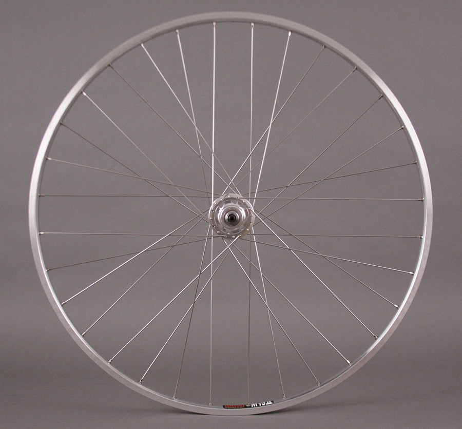 REAR Sun M13 silver rim Formula fixed gear track hub wheel 27""