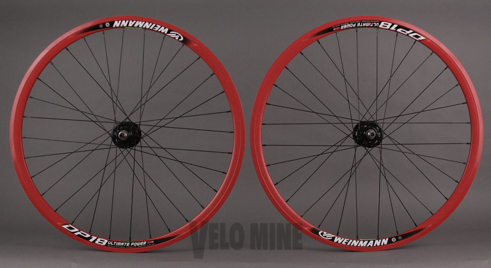 Weinmann DP18 RED Track fixed Wheelset Black DT 2.0 Origin8 Hub