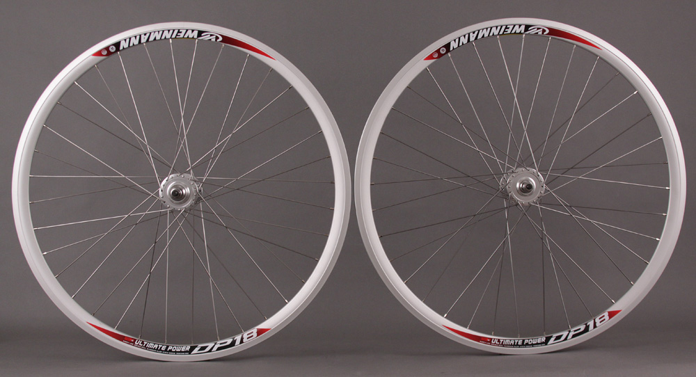 Weinmann DP18 SILVER 36H Fixed Gear Track Bike Wheelset