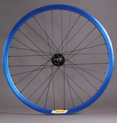 Velocity 32 Hole Deep V BLUE FRONT Wheel Black Hub