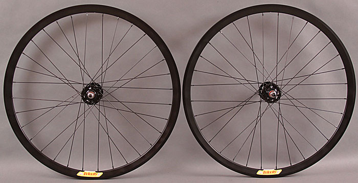 Velocity Deep V black fixed gear wheelset non machined 32 H