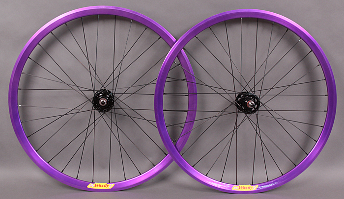 Velocity Deep V Purple Track Bike Fixed Gear Wheelset