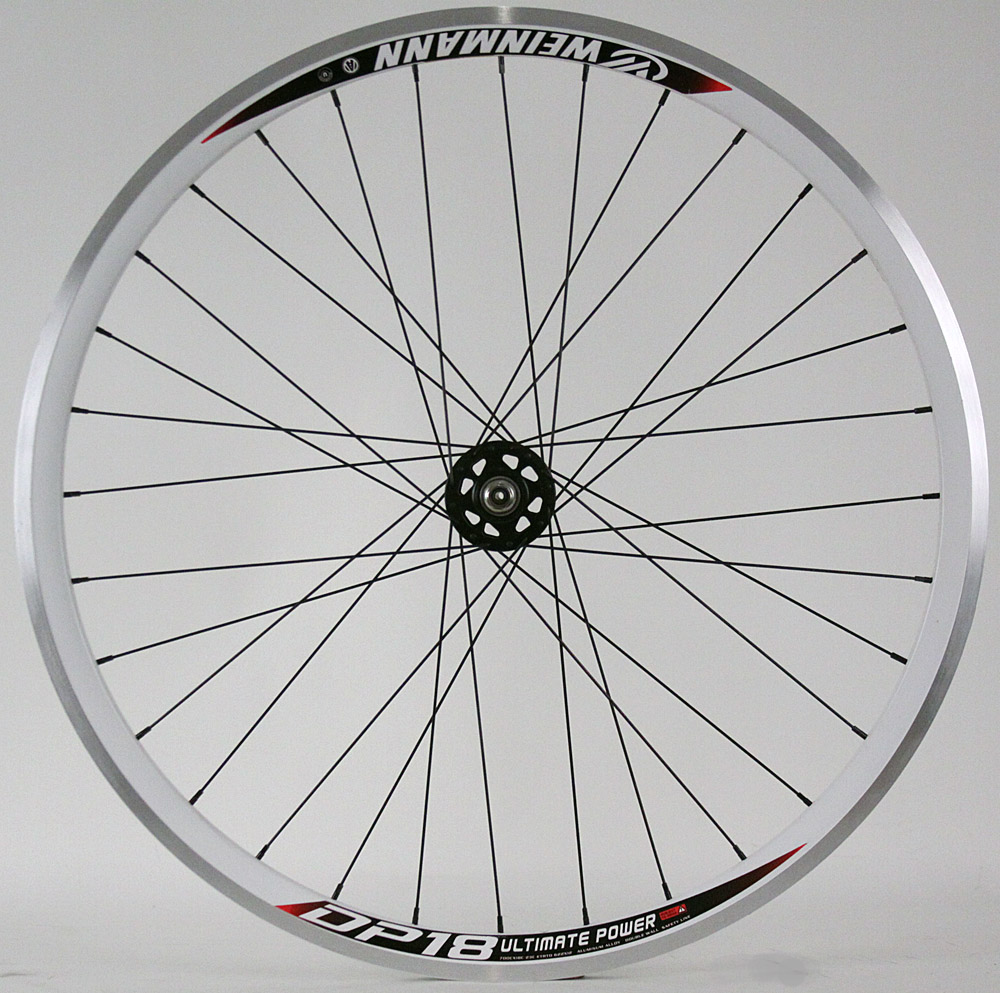 Weinmann DP18 White Fixed Gear Track Wheel Machined Front Only
