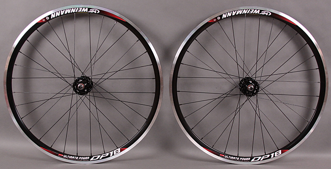 Weinmann DP18 Black Fixed Gear Wheels 32H Formula DT Champ MSW