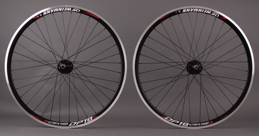 Weinmann DP18 BLACK 36h Formula Hub track fixed Wheelset MSW