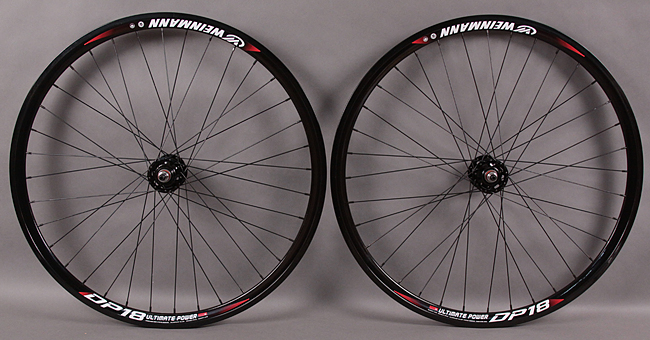Weinmann DP18 BLACK 32h fixed gear wheelset FORMULA HUBS