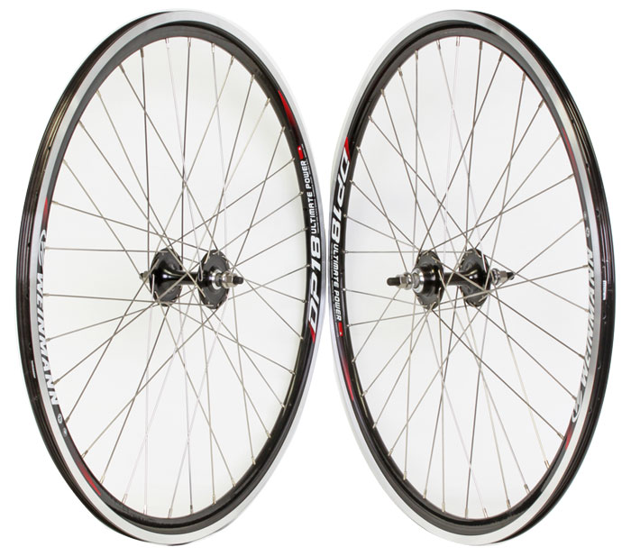Weinmann DP18 black fixed gear Single Speed Wheelset 36h