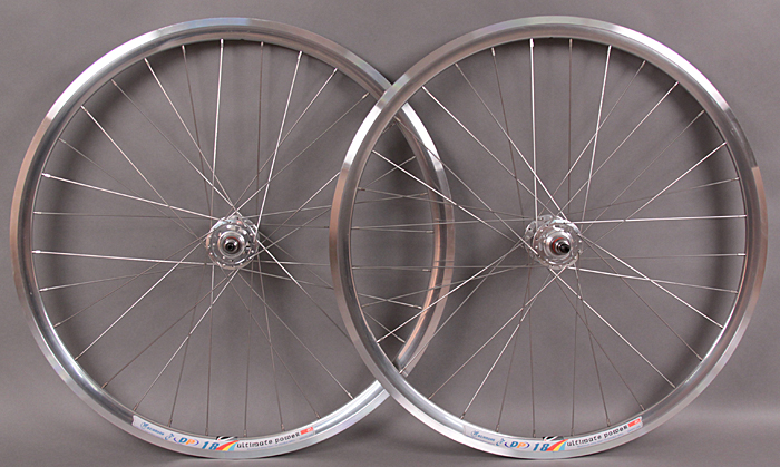 Weinmann DP18 POLISHED SILVER fixed gear wheelset MSW 32 Hole