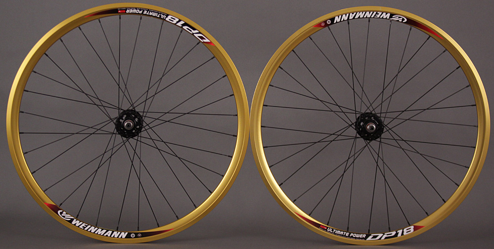 Weinmann DP18 GOLD fixed gear wheelset Formula hubs Non Machined