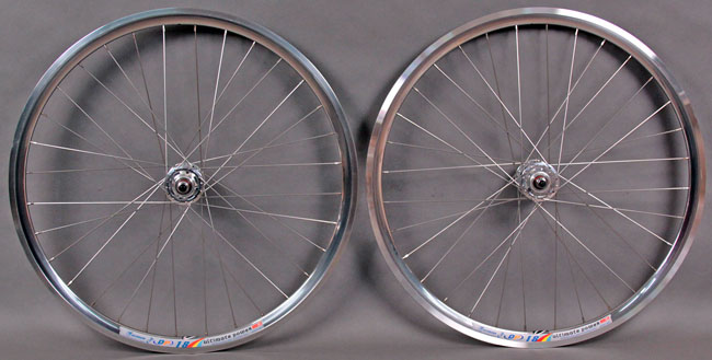 Weinmann DP18 POLISHED SILVER fixed gear wheelset 32 Hole