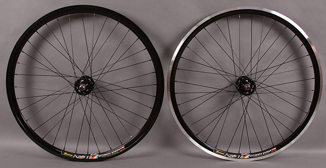 Weinmann DP18 black fixed gear wheelset For Front Brakes!