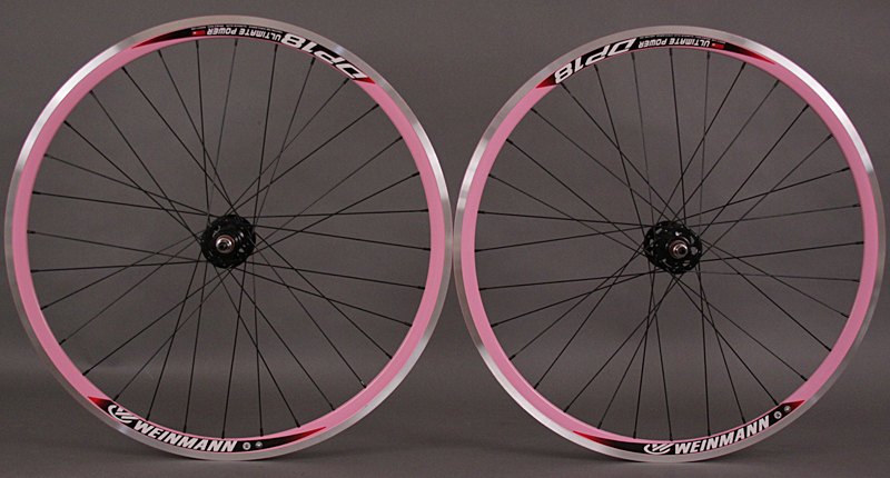 Weinmann DP18 Pink Deep V Track Fixed Gear Wheelset 32h