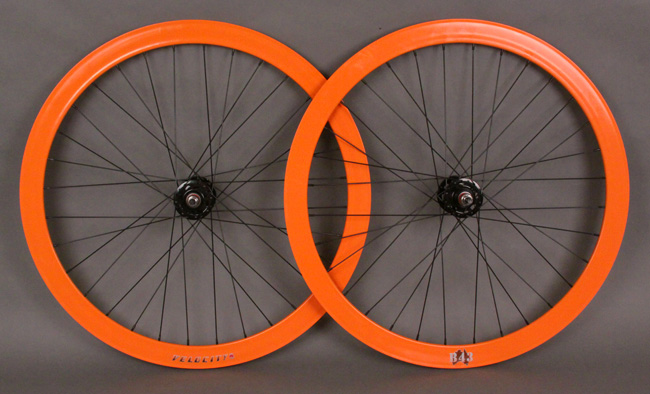 Velocity B43 Orange Fixed Gear Track Bike Wheelset 32H