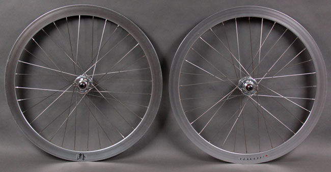 Velocity B43 BRIGHT SILVER fixed gear wheelset FORMULA HUBS