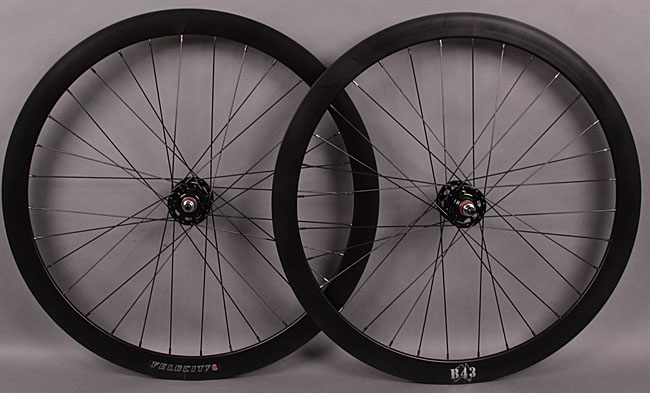 Velocity B43 Black Fixed Gear Track Wheelset 3x lacing