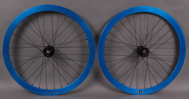 Velocity B43 Electric Blue Fixed gear track wheelset