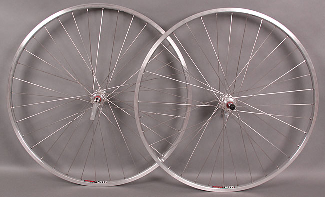 "Sun CR18 27"" Inch Wheelset freewheel hubs with quick release"