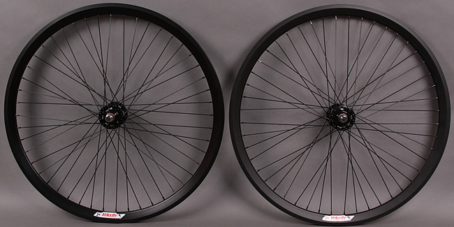 Velocity CHUKKER Black 48h Fixed Fixed Gear Polo Wheelset