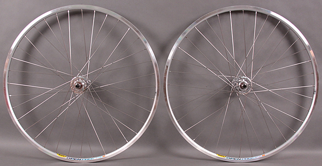 Silver Mavic Open Pro Rims Track Singlespeed Wheels Sealed Hubs