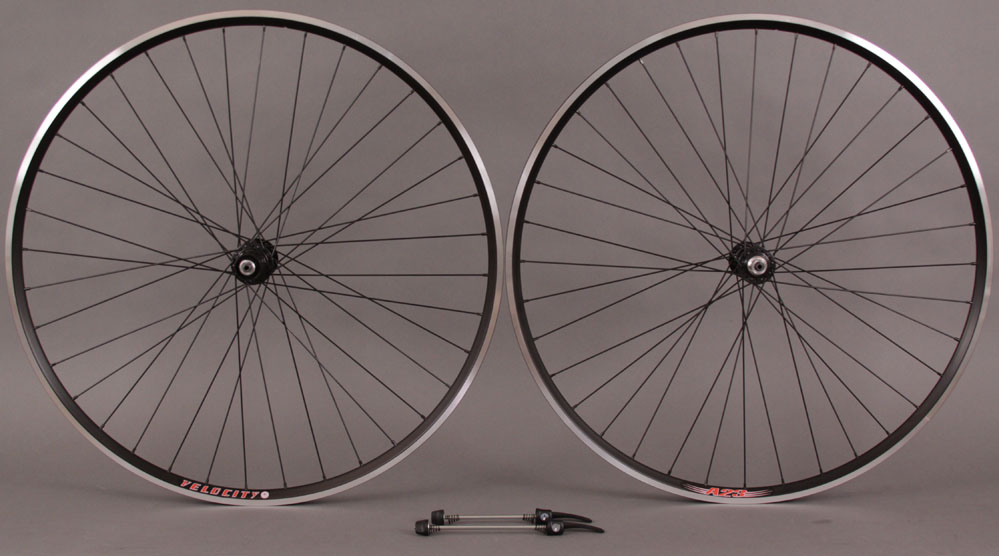 Velocity A23 Black Shimano 105 7000 32h Hubs Wheelset 8 9 10 11s